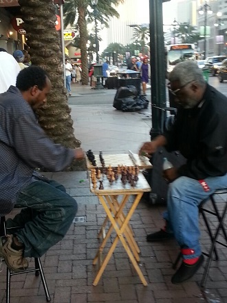 guys playing chess